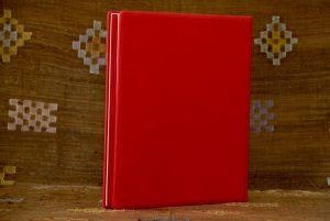 אלבום ארועים מעור ודפים אדומים