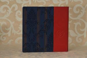 אלבום חתונה עור אדום ובד כחול