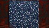 פרחוני כחול כהה בייבי בוק