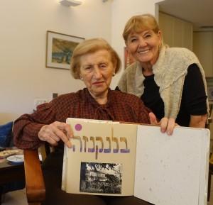 הגב׳ ראומה ויצמן בבית היתומים שראומה טיפלה בו בילדים באירופה אחרי המלחמה