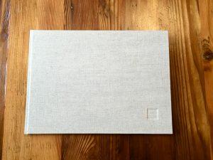 ספר בעבודת יד שכולל תוכניות אדריכליות
