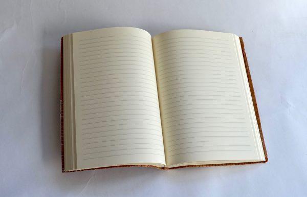 מחברת מעוצבת שורות 120 דפים מחופה בבד מודפס