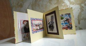 אקורדיון מעוצב עם רקע 12 תמונות בהדבקה