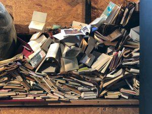 ספרים בערימה בצורת ספל סביבתי